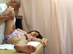 Voyeur massage video of cute Japanese getting dicked