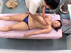 Delicious Japanese crammed hard in hidden cam massage movie