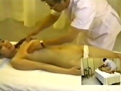 Titless Jap slut fingered hard in hidden cam massage clip