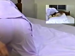 Skinny Japanese enjoys fingering in hidden cam massage video