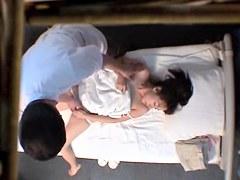 Nude Japanese girl sprayed in hidden camera massage video