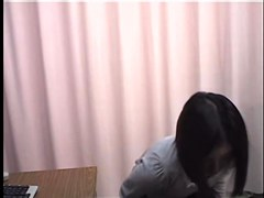 Dildo drilling fun during a Gyno exam for hot Jap babe