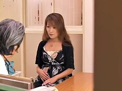 Incredible Jap whore banged during a medical examination