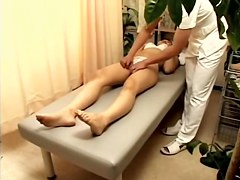 Doggystyle Japanese fucking during kinky massage session