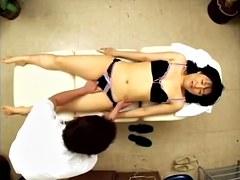 Hairy Asian enjoys hardcore Japanese fuck during massage