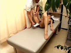 Slutty Japanese teen whore enjoys Japanese sex massage