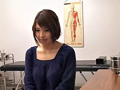 Busty Japanese toyed hard during medical examination