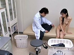 Fucking in the clinic . hot Japanese tramp and her gyno