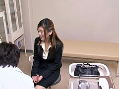 Japanese beauty got fucked really hard by her gyno