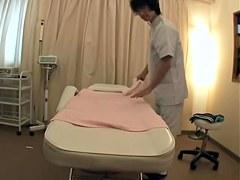 Cute Japanese bitch got slammed at a massage salon