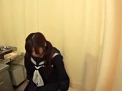 Teen Japanese floozy got dildoed by her kinky gyno
