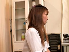 Japanese slut gets her wet bun examined at the gyno clinic