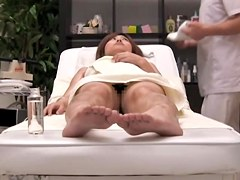 Toro's japanese cunt fuked by me in massage video with sex