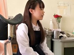 Asian cunt gets drilled by sex toy in kinky medical video