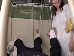 My asian mouth sucking the dick of a patient in spy cam film