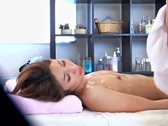 Oily massage and hardcore Japanese sex on hidden camera