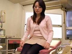 Slim Japanese crammed hard during her medical treatment