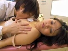 Delicious Jap slut dicked hard in voyeur medical video