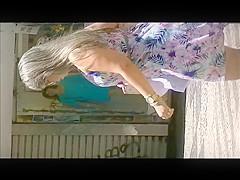 Dream blonde PAWG bouncing her ass through the town