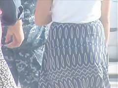 nice jiggly ass in dress