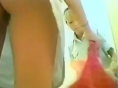 asian changing room bikinis&pantys (fake voyeur)