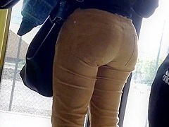 Nice Big Ass in a french bus