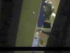 Spying not my sister inserting tampon. Hidden cam