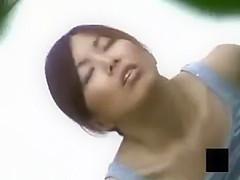 voyeur asian teen outdoor masturbation