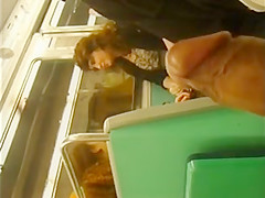 Wanking and flashing in the subway