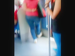 Sexy ass at train