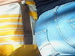 Beautiful buttocks on the bus
