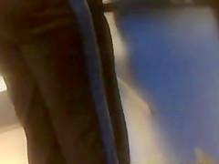 black ass work out pants(hidden cam)