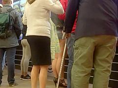 hot pants public showing underbutt ass 2
