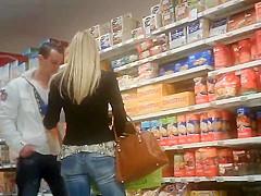 Candid supermarket blonde jeans