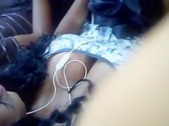 Sexy black girl on bus