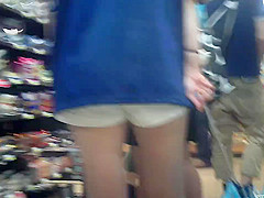Shadowed white shorts ,legs