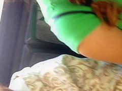 Big boob Mexican on bus