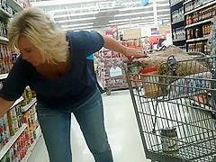 Sexy Blonde Milf at Walmart