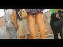 Upskirt Voyeur In Public Transport BVR