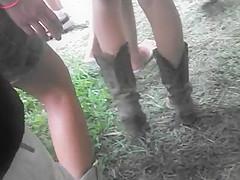 legs of sweet teen cowgirl