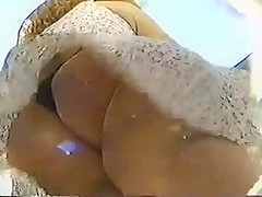 Windy Upskirt Teen with Black G-String Full View!