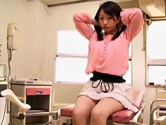 Incredible Japanese hottie dicked in voyeur medical video