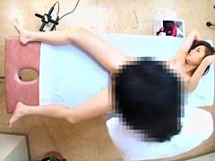 Amazing Jap babe fucked doggystyle during erotic massage