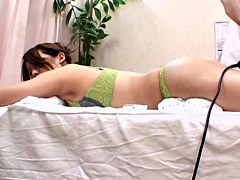 Savory Japanese in hot oral fun during erotic massage