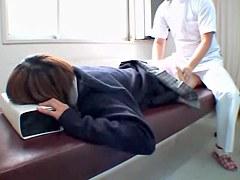 Skinny Jap enjoys a dirty massage on spy cam video
