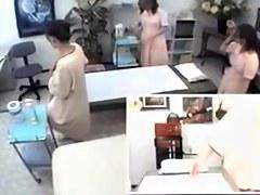 Small tits caught in a hidden camera massage video