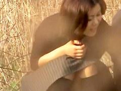 Lovely Jap caught in kinky hot Japanese sex video