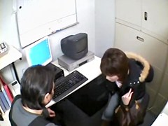Hidden camera kinky Japanese hardcore sex in the office