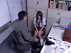 Petite teen gets dicked in great Japanese sex video