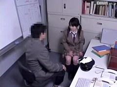 Doggystyle Japanese fuck for a hot schoolgirl slut